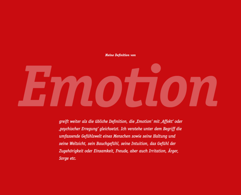 Emotion - Weitsicht - Intuition