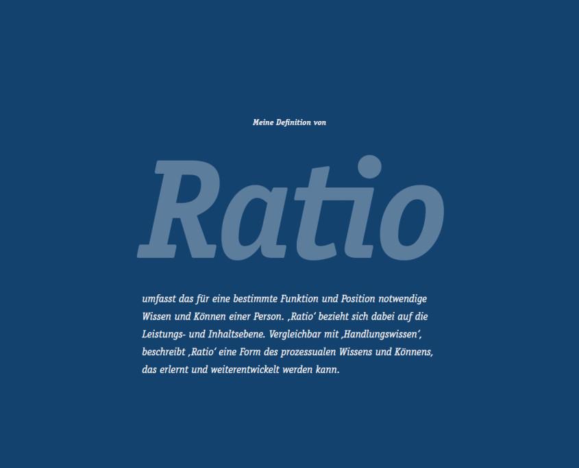 Ratio - für eine bestimmte Funktion und Position notwendiges Wissen und Können - Handlungswissen